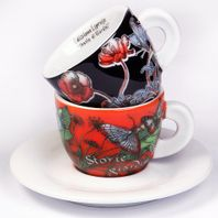 Espresso šálky Ancap STORIE di GIARDINI set A 2ks
