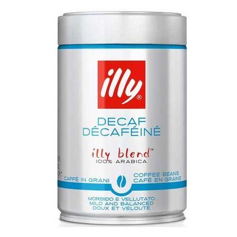 Illy zrnková káva 250g bezkofeínová